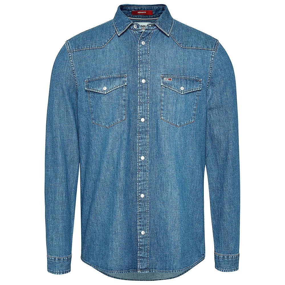 Western Denim Shirt in Stonewash
