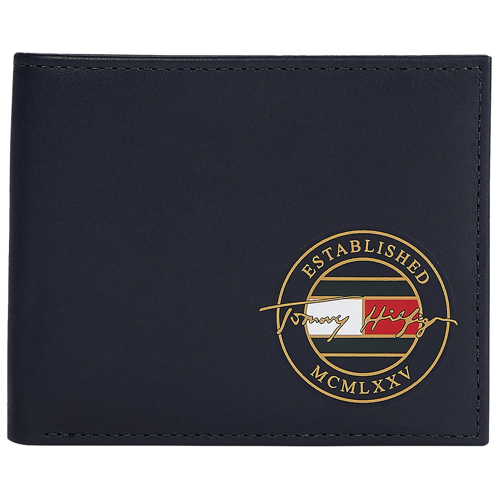 Signature Mini Wallet in Navy