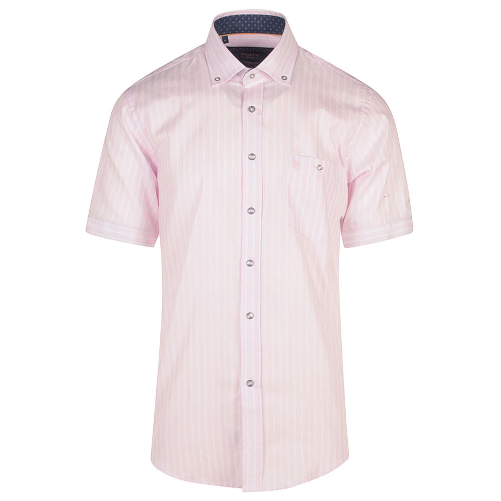 Danny Short Sleeve Shirt in Pink