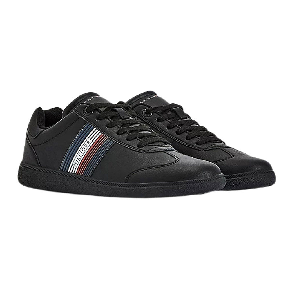 Core Corporate Leather Sneakers in Black