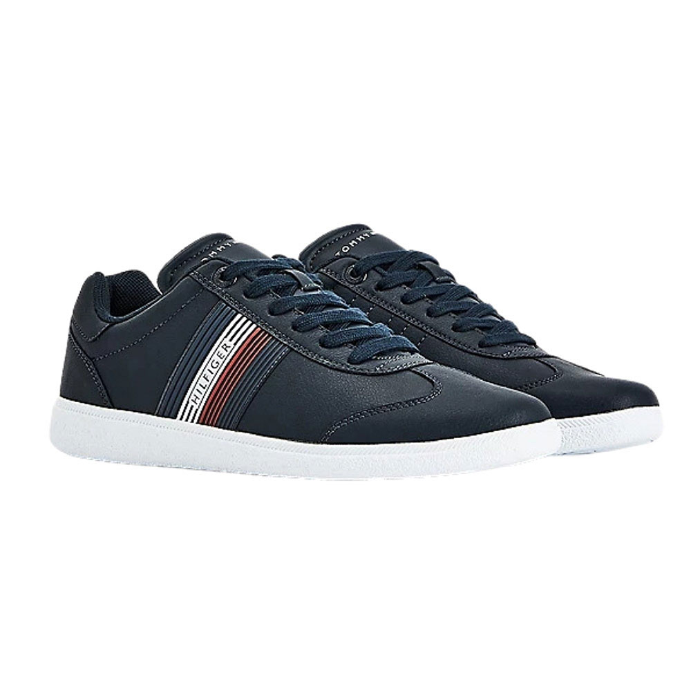 Core Corporate Leather Sneakers in Navy