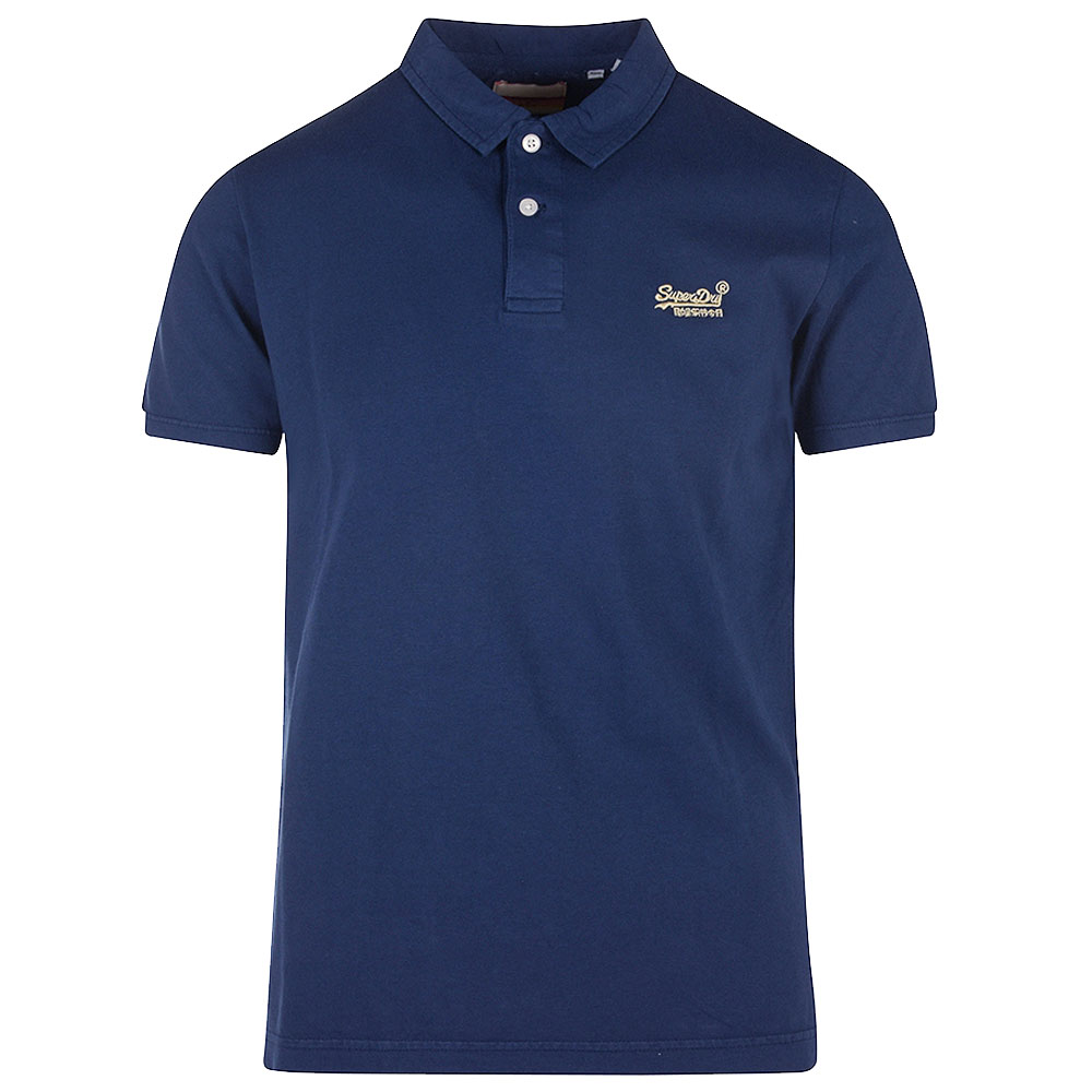 Beach Jersey Polo in Navy