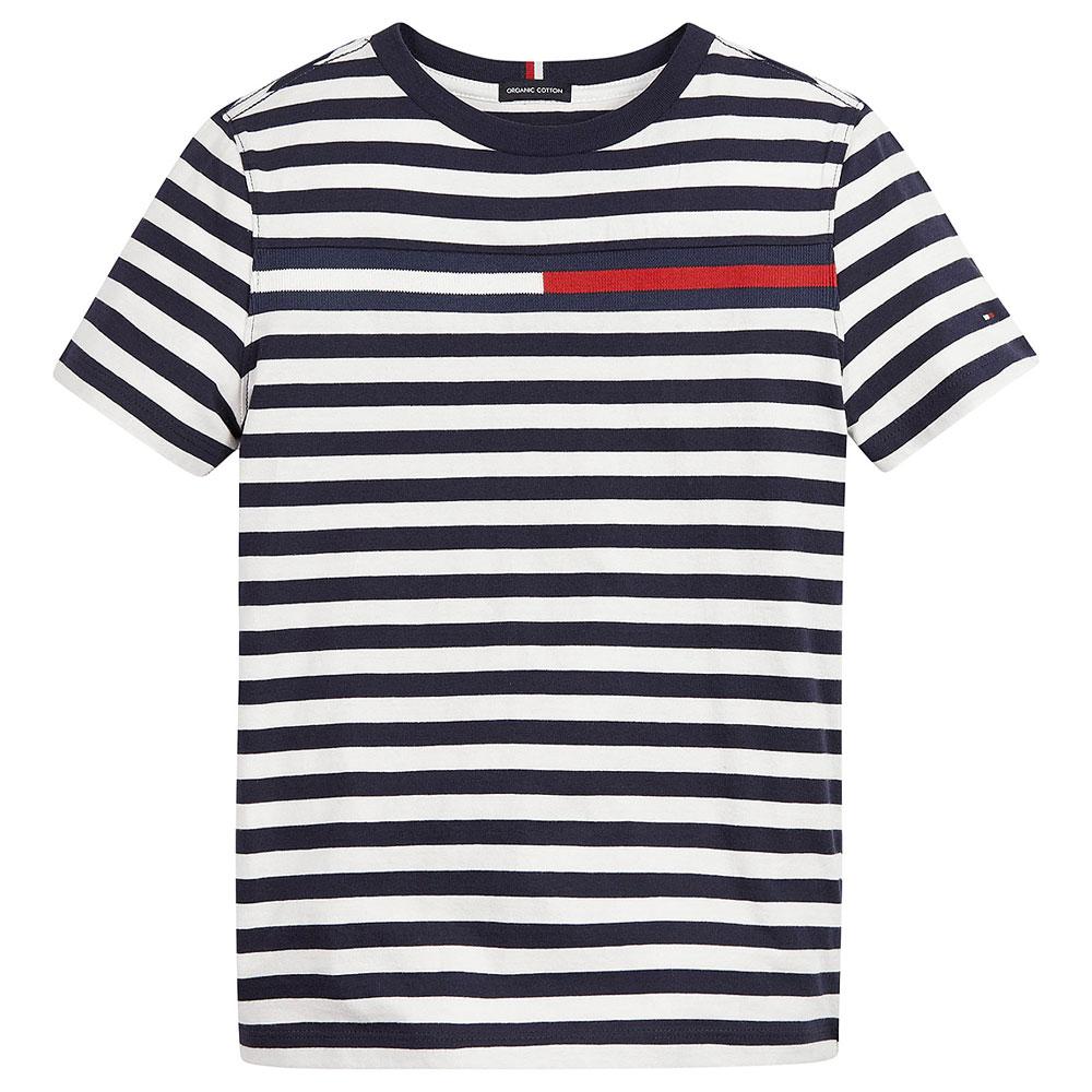 Flag Stripe T-Shirt in Navy