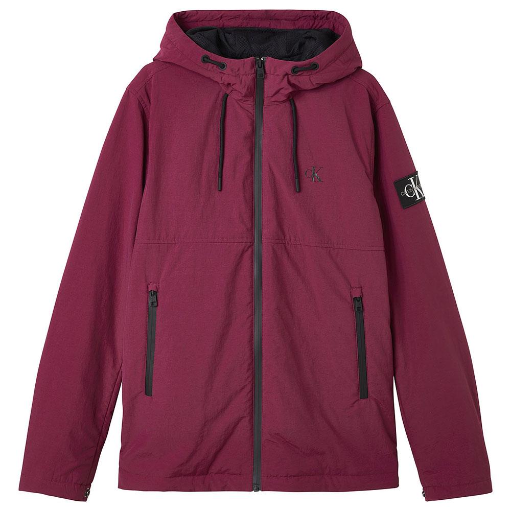 Hooded Harrington Jacket in Purple