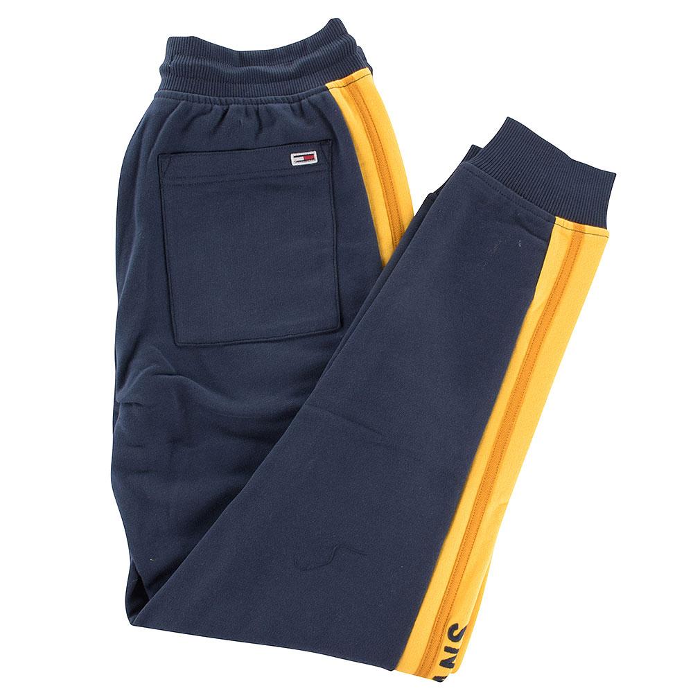 Rib Insert Sweatpants in Navy