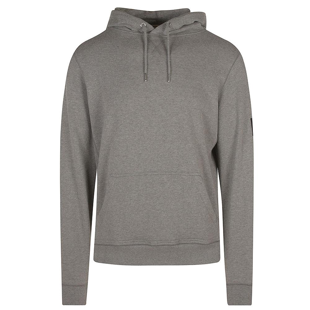 Monogram Badge Hoodie in Grey