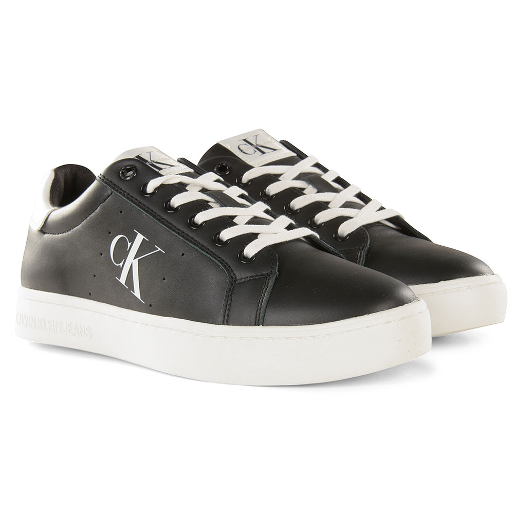 Cupsole Lace up Sneaker in Black