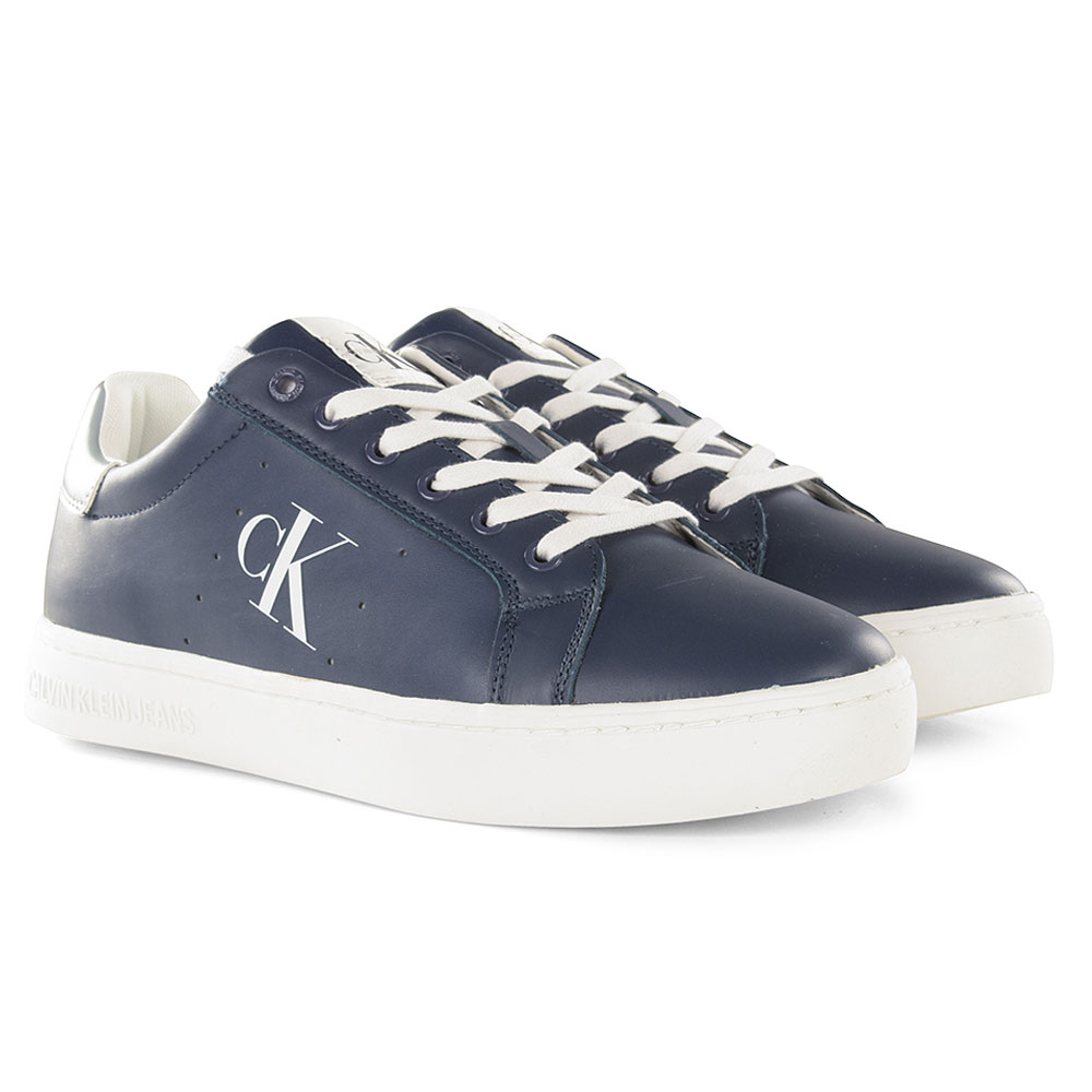 Cupsole Lace up Sneaker in Navy