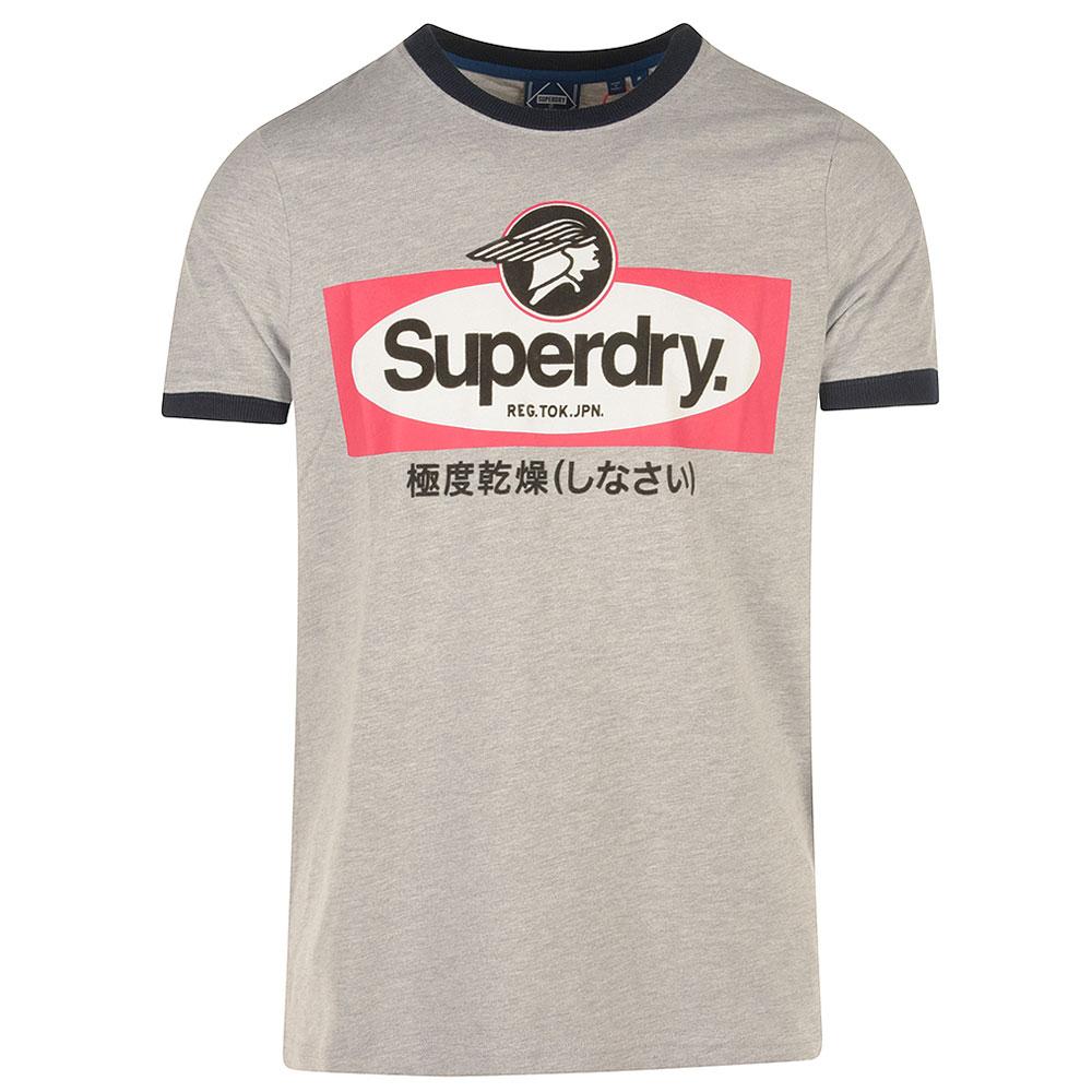 Ringer T-Shirt in Grey