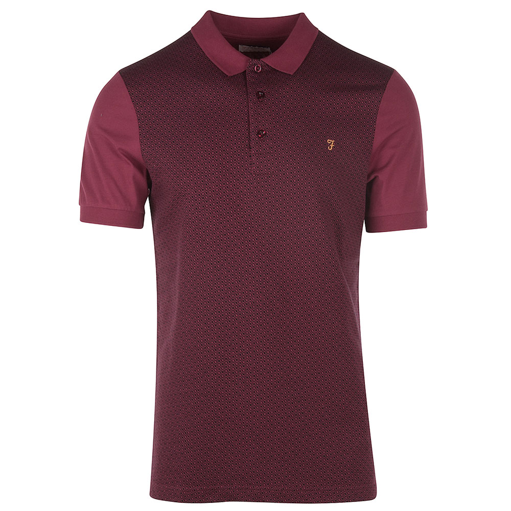 Bergen SS Polo Shirt in Red