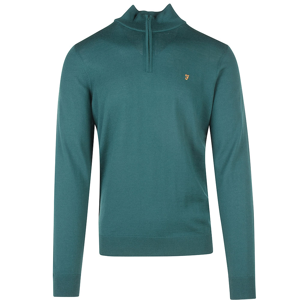 Redchurch Merino Wool Knitted Sweater in Green