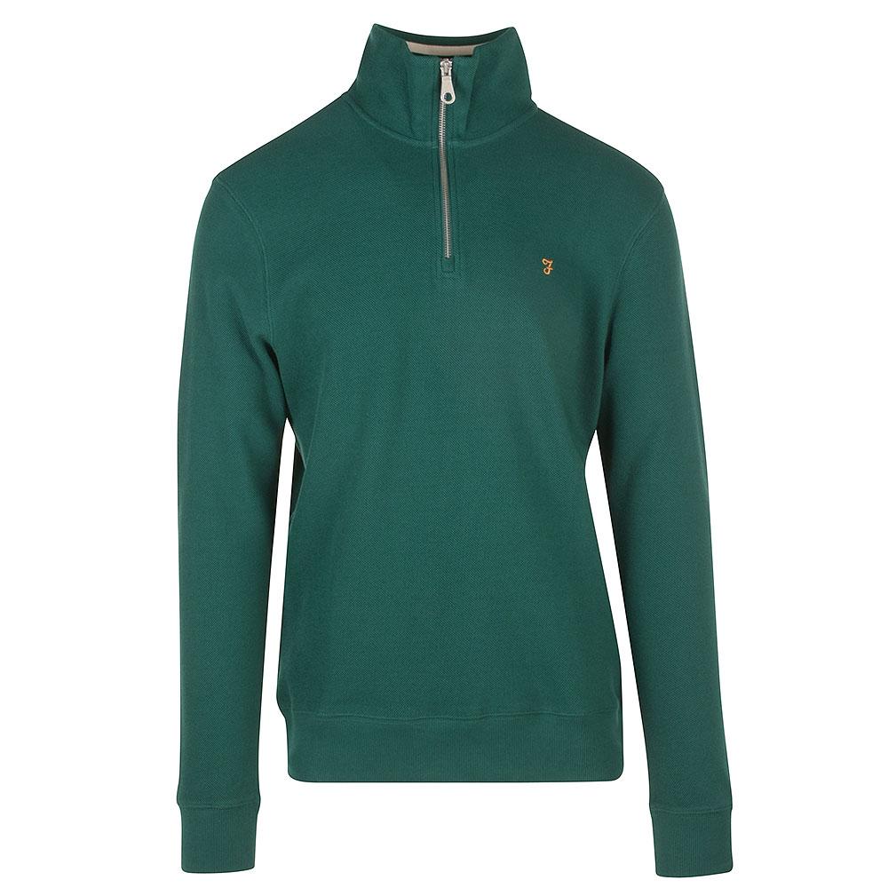 Putman !/4 Zip Sweatshirt in Green