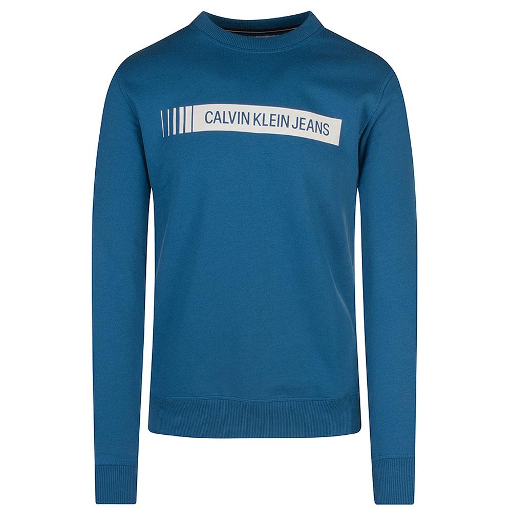 Institutional Logo Sweatshirt in Blue