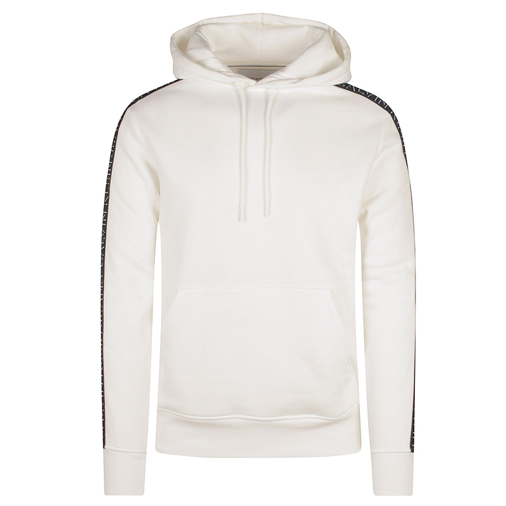 Shadow Logo Hoodie in White