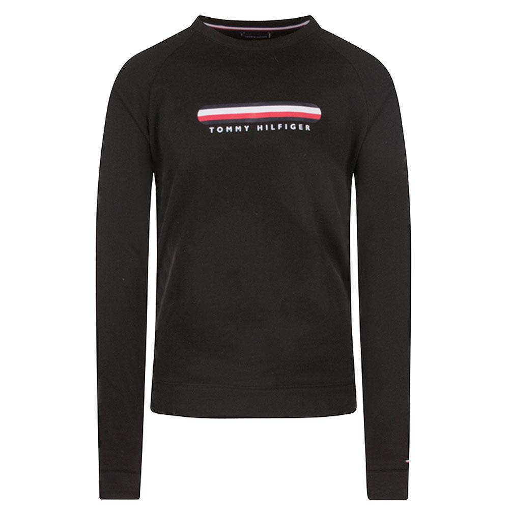 Track Top Sweatshirt in Black