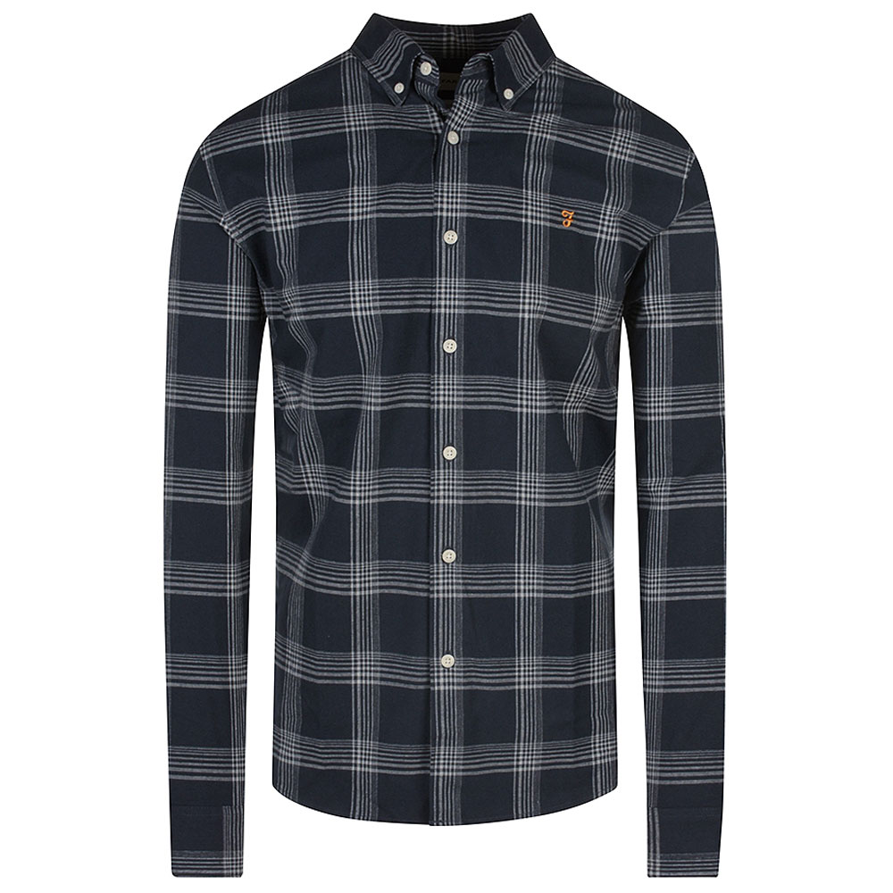 Nuvern Check Shirt in Navy