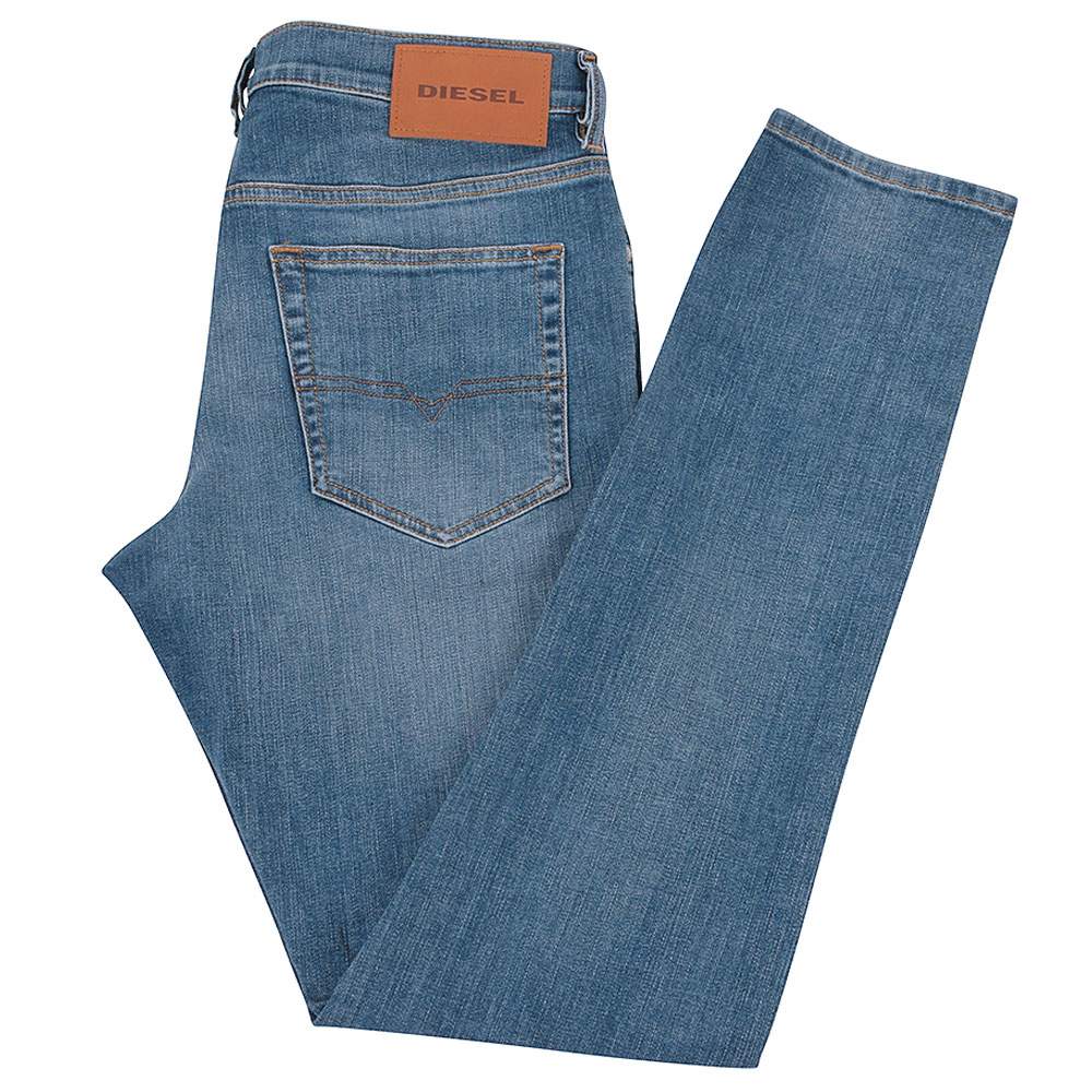 D-Luster Slim Fit Jeans in Lt Stone