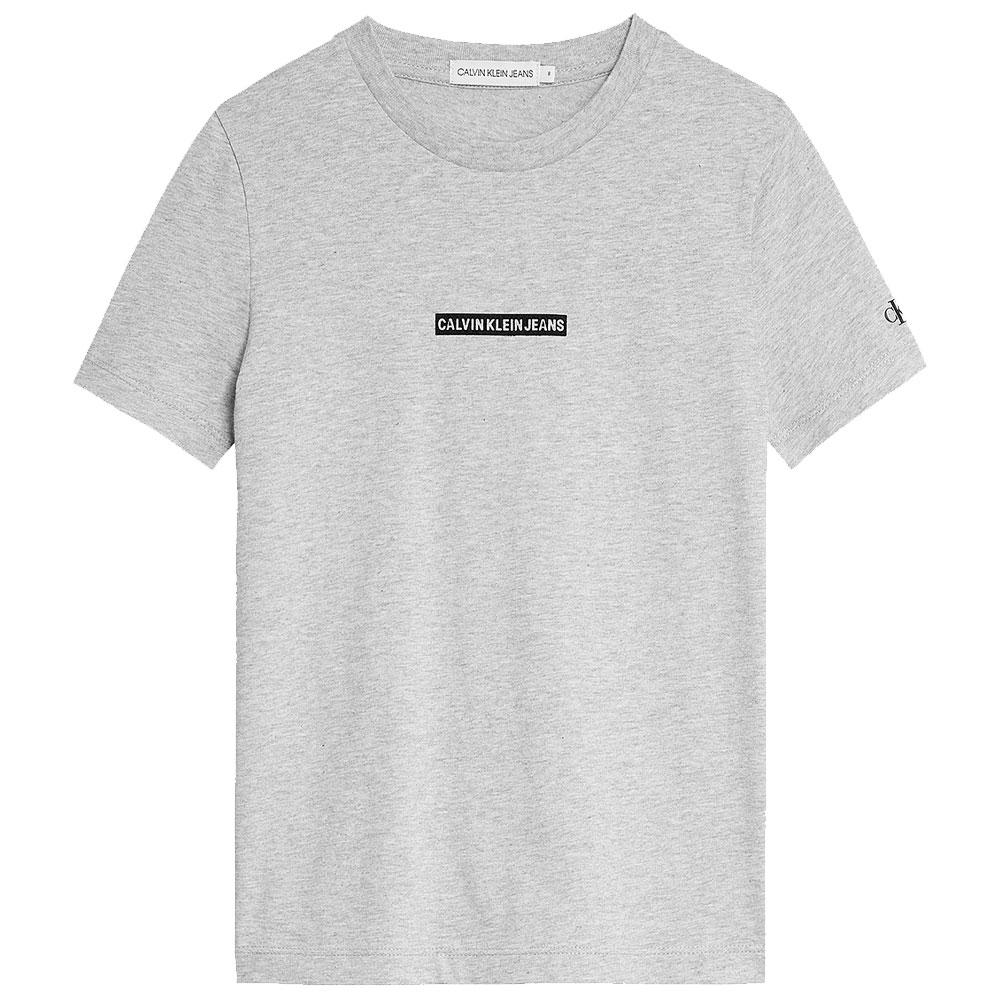 Micro Flock Logo T-Shirt in Lt Grey