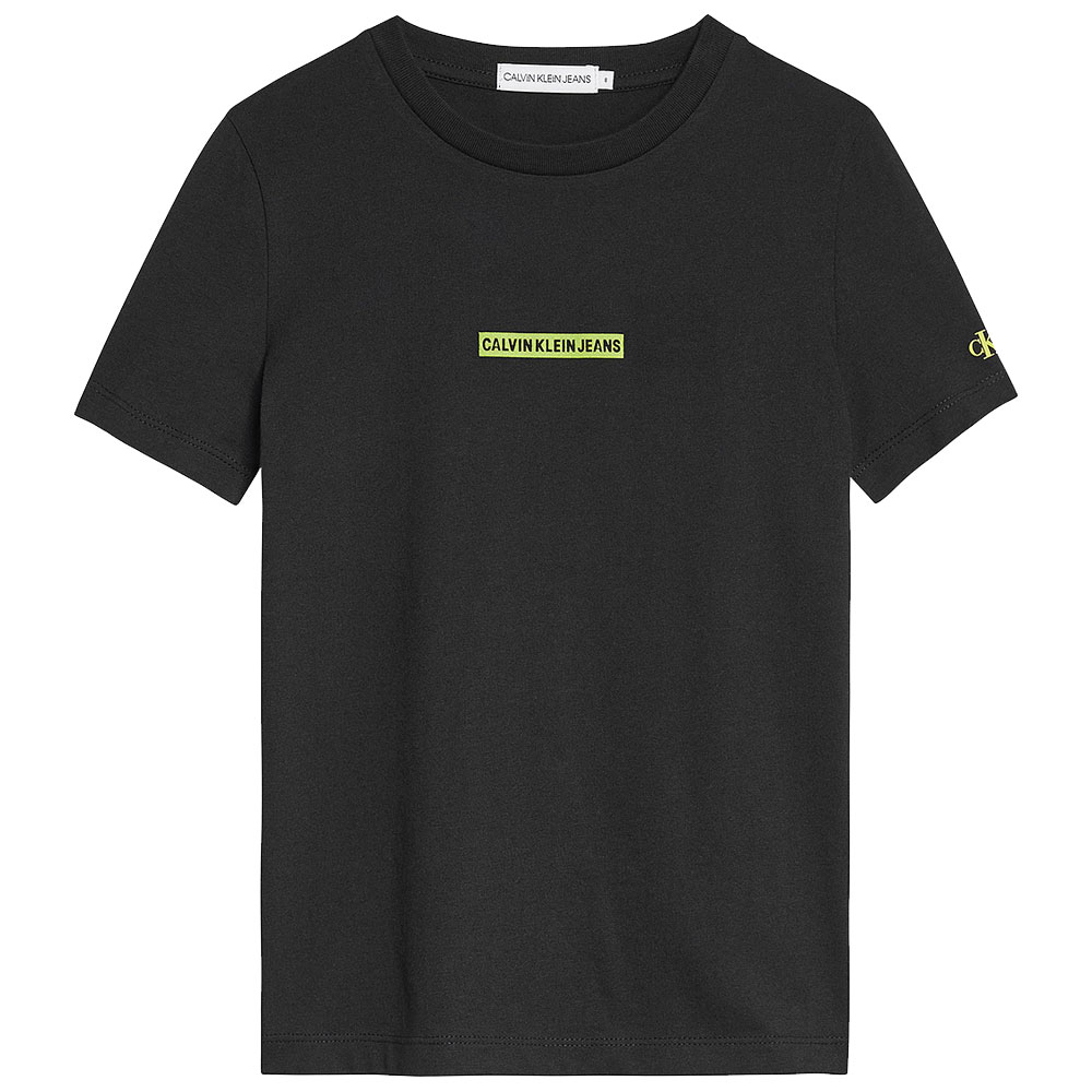 Micro Flock Logo T-Shirt in Black
