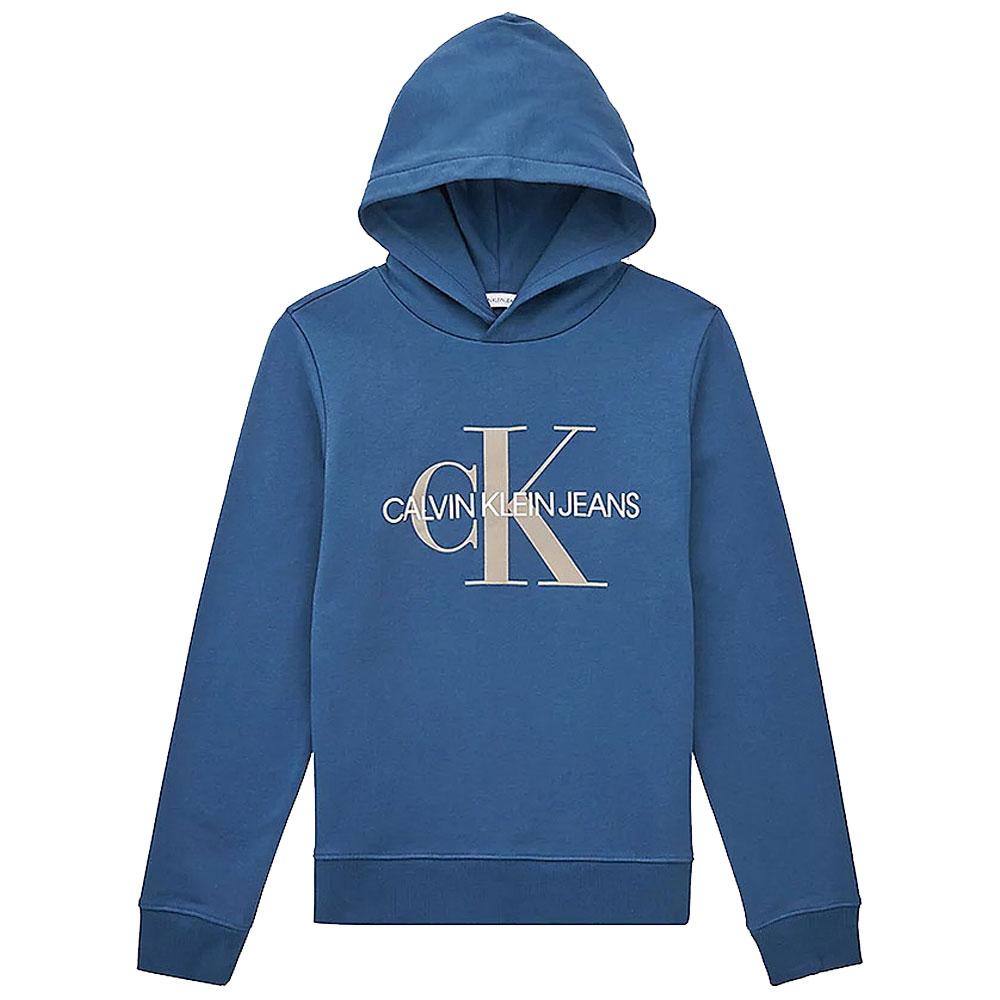 Monogram Hoodie in Blue