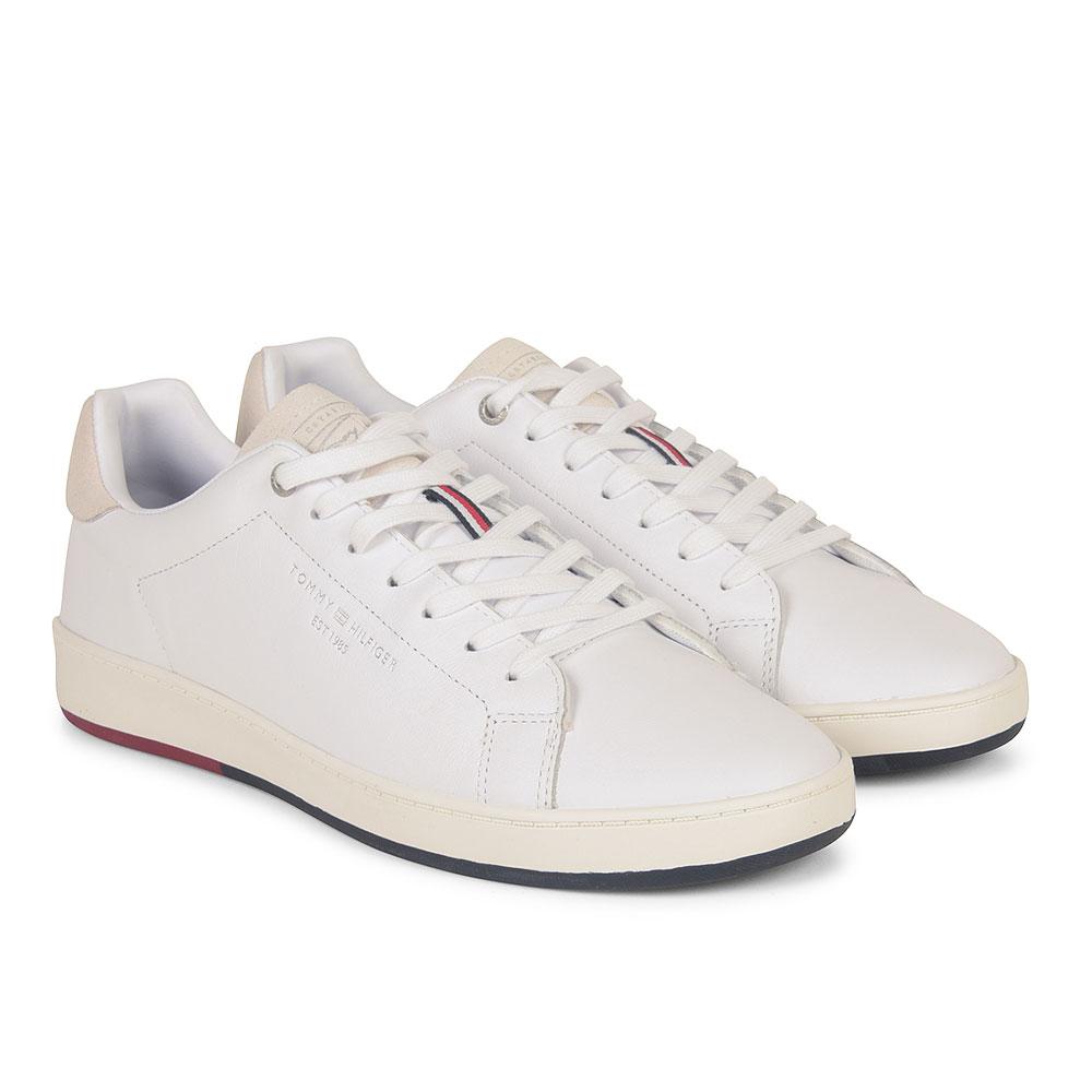Retro Tennis Sneaker in White