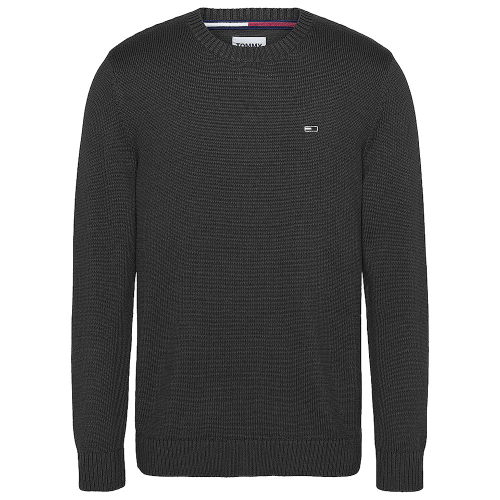 Essential Crew Neck Knitted Sweater in Black