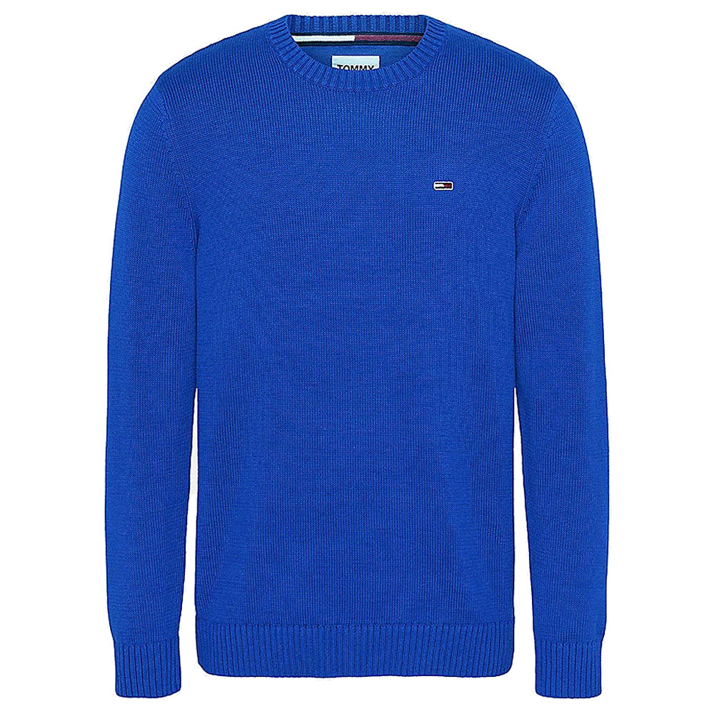Essential Crew Neck Knitted Sweater in Royal