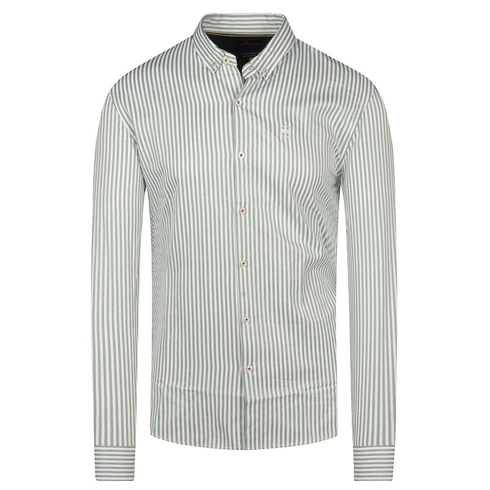 Edge Cumbe Striped Shirt in Green