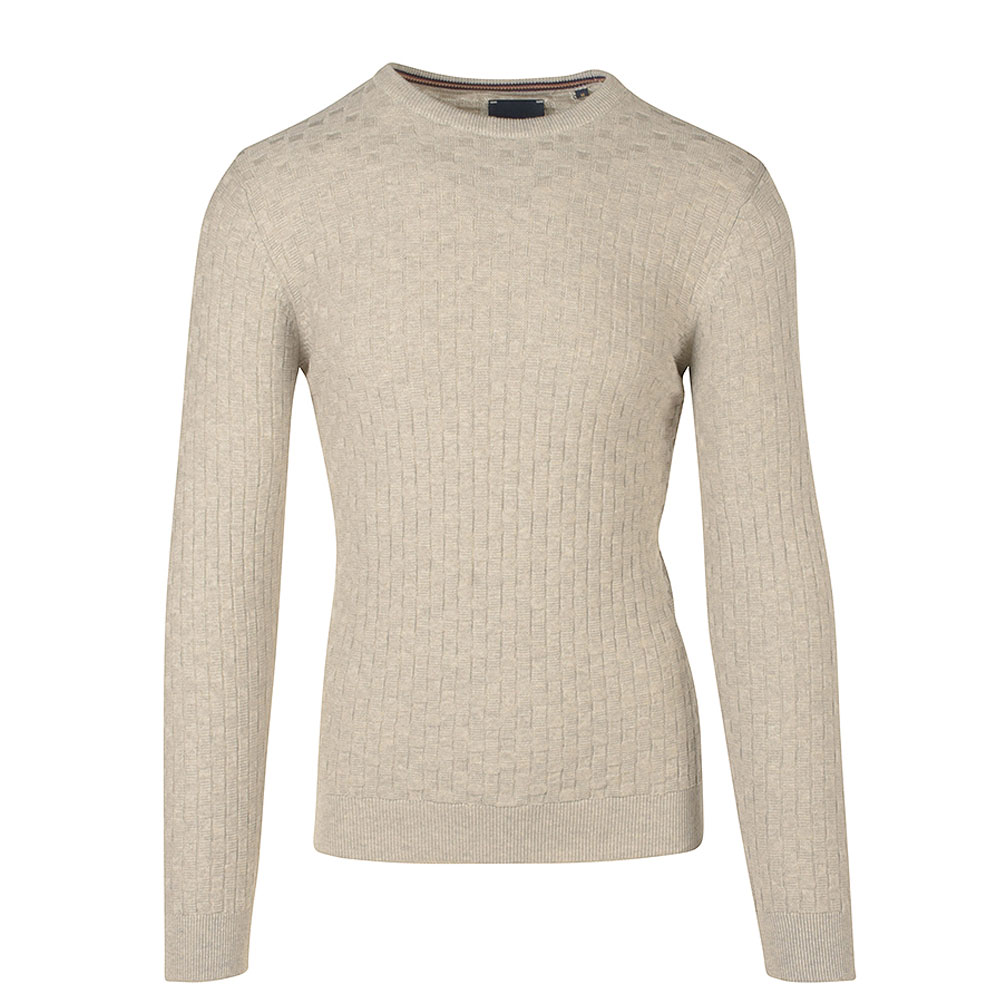 Crew Neck Knitted Jumper in Grey