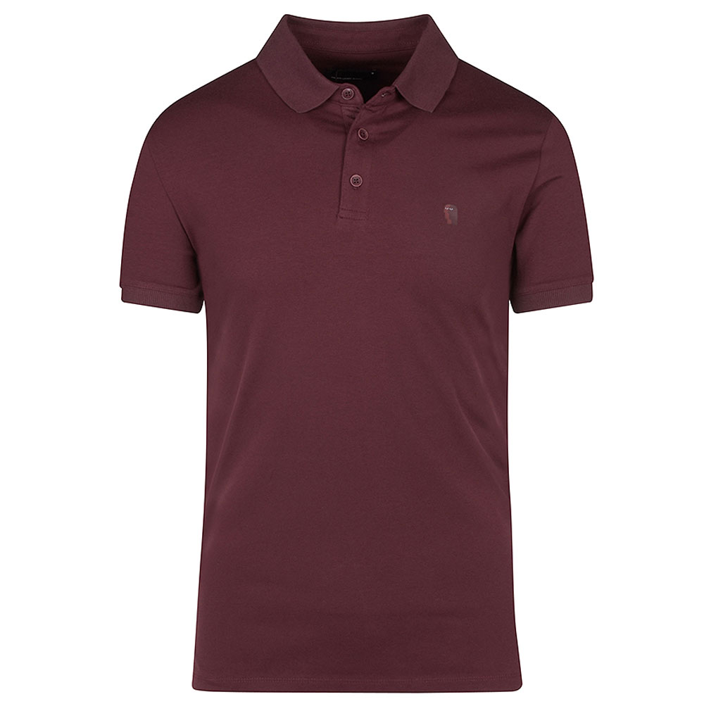 Short Sleeve Polo Shirt in Plum