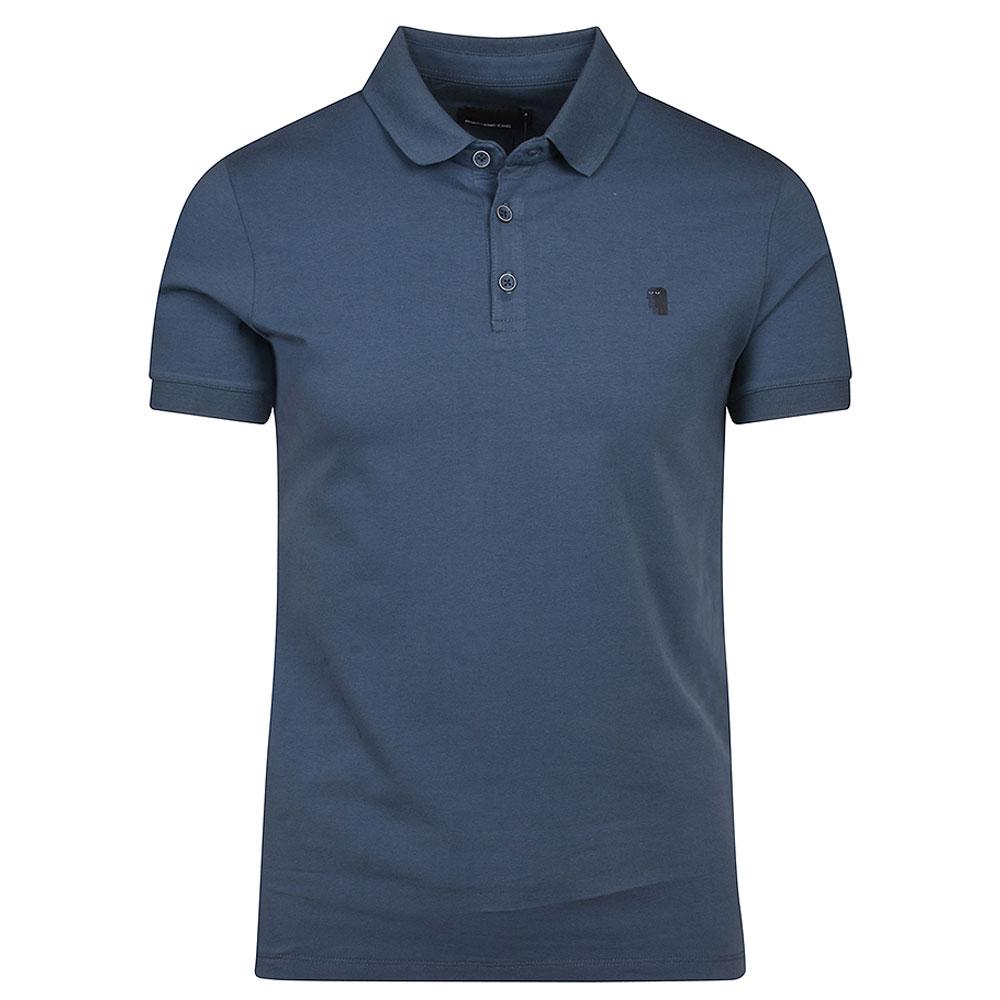 Short Sleeve Polo Shirt in Blue