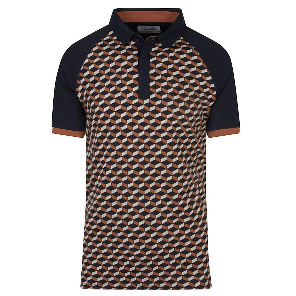 Felix Short Sleeve Polo Shirt in Navy