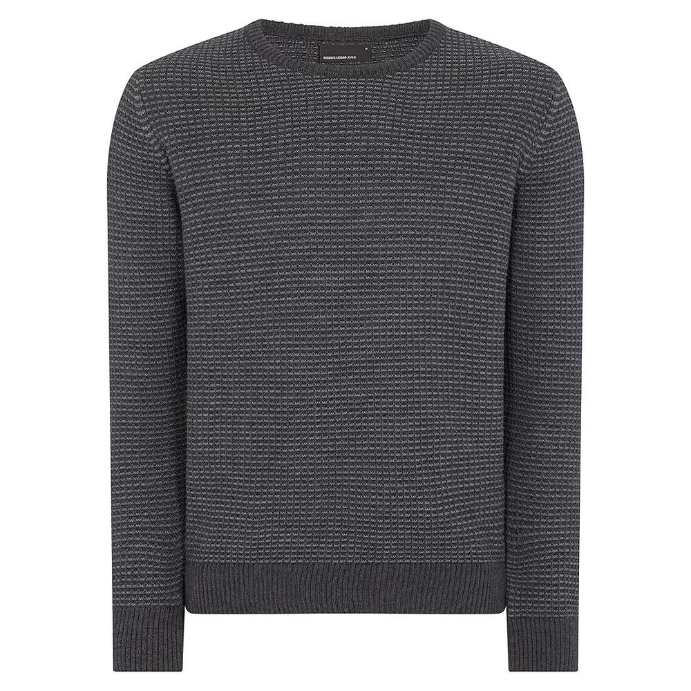 Crew Neck Sweater in Dk Grey