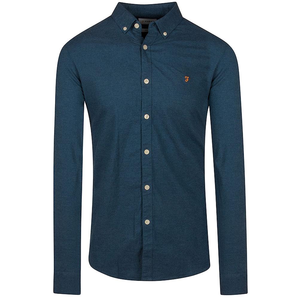 Steen Slim Shirt in Indigo