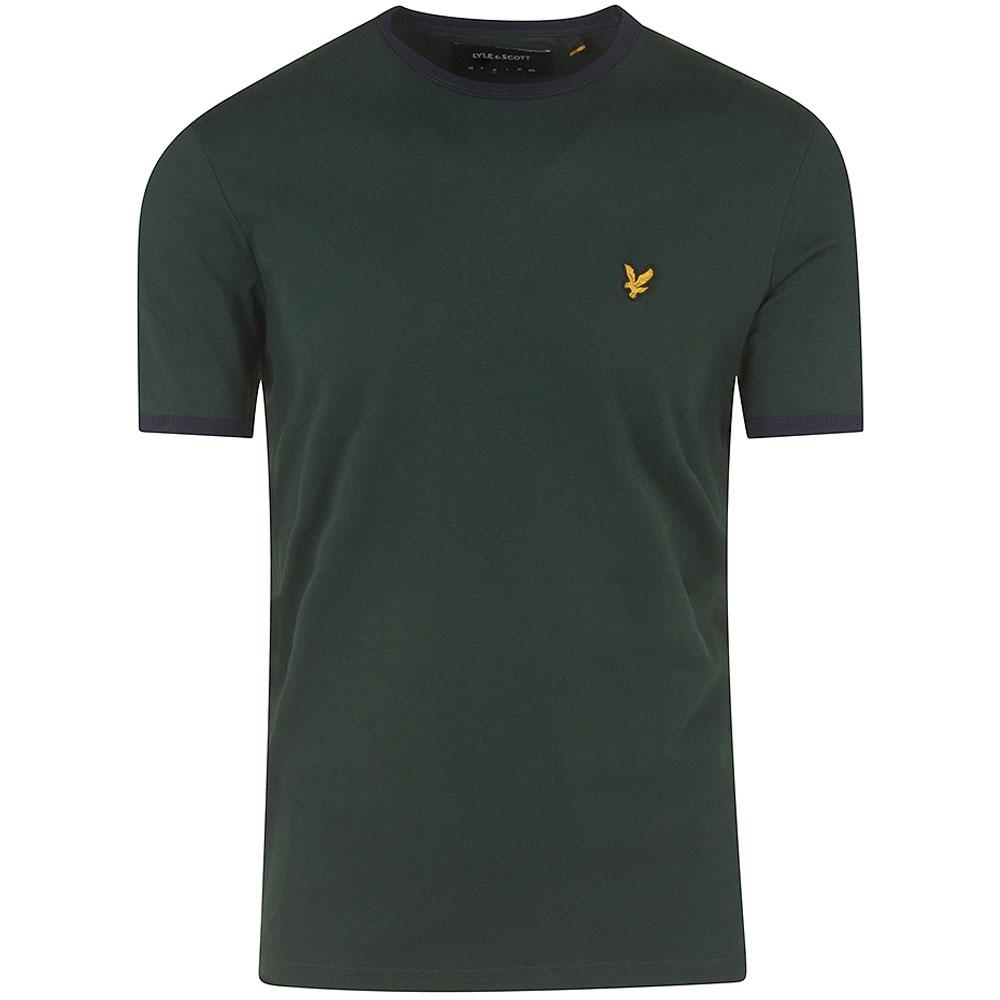 Ringer T-Shirt in Green