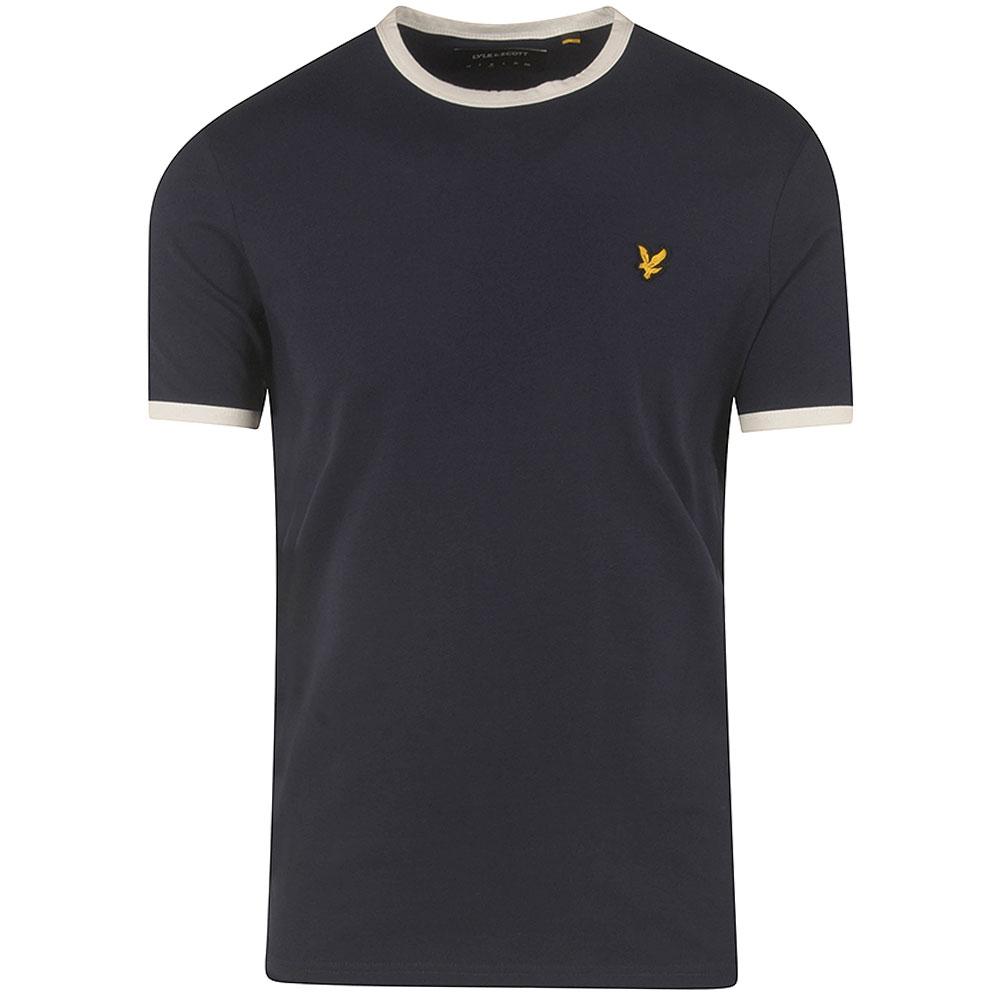 Ringer T-Shirt in Navy