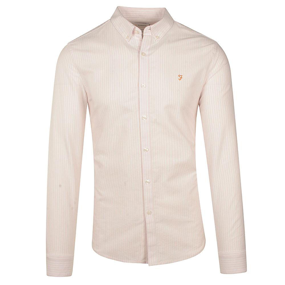 Brewer Stripe Shirt in Peach
