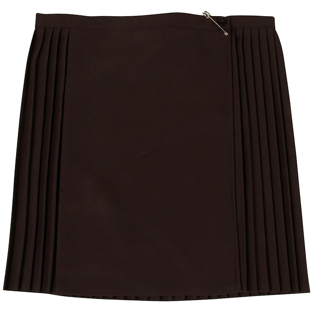 St Louise's Pleated Kilt in Brown