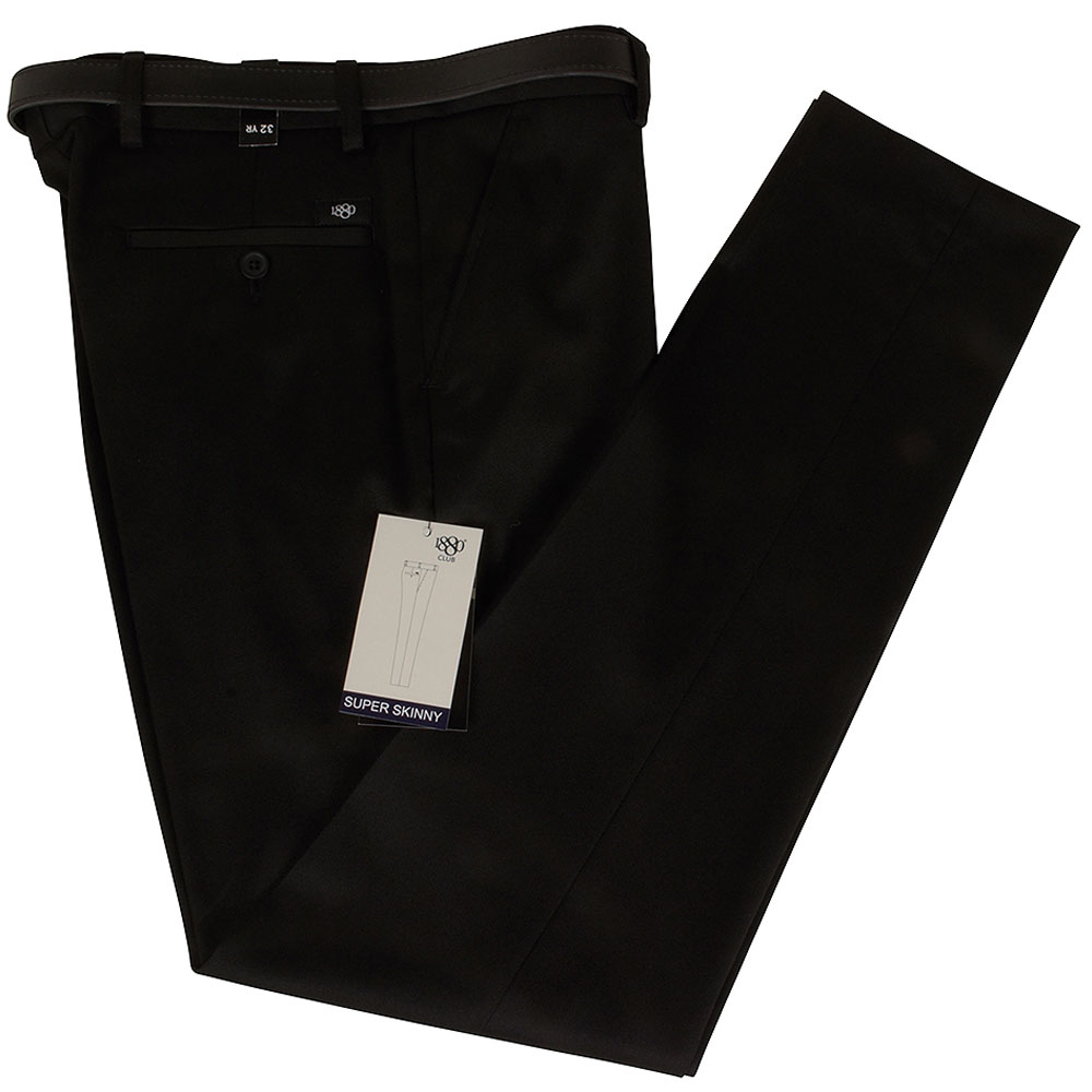 Boys Super Skinny Jnr School Trouser in Black