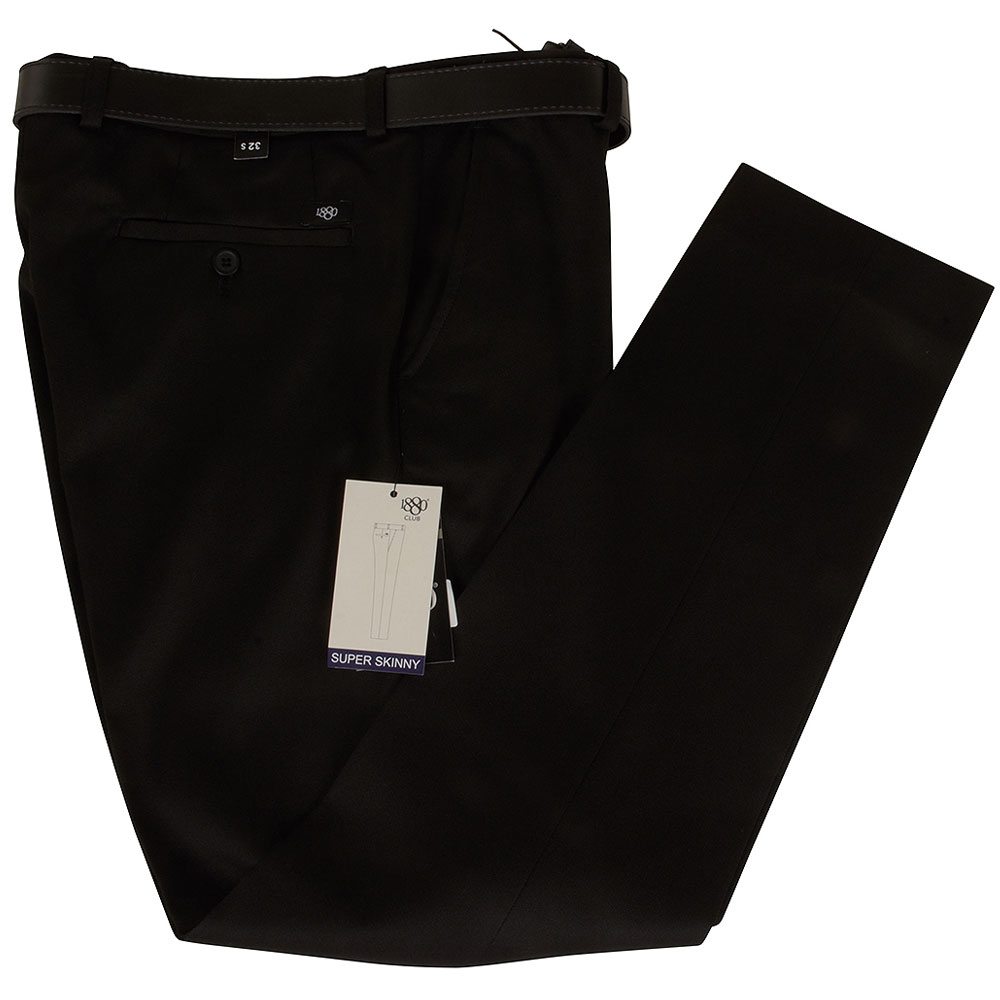 Boys Super Skinny Snr School Trouser in Black