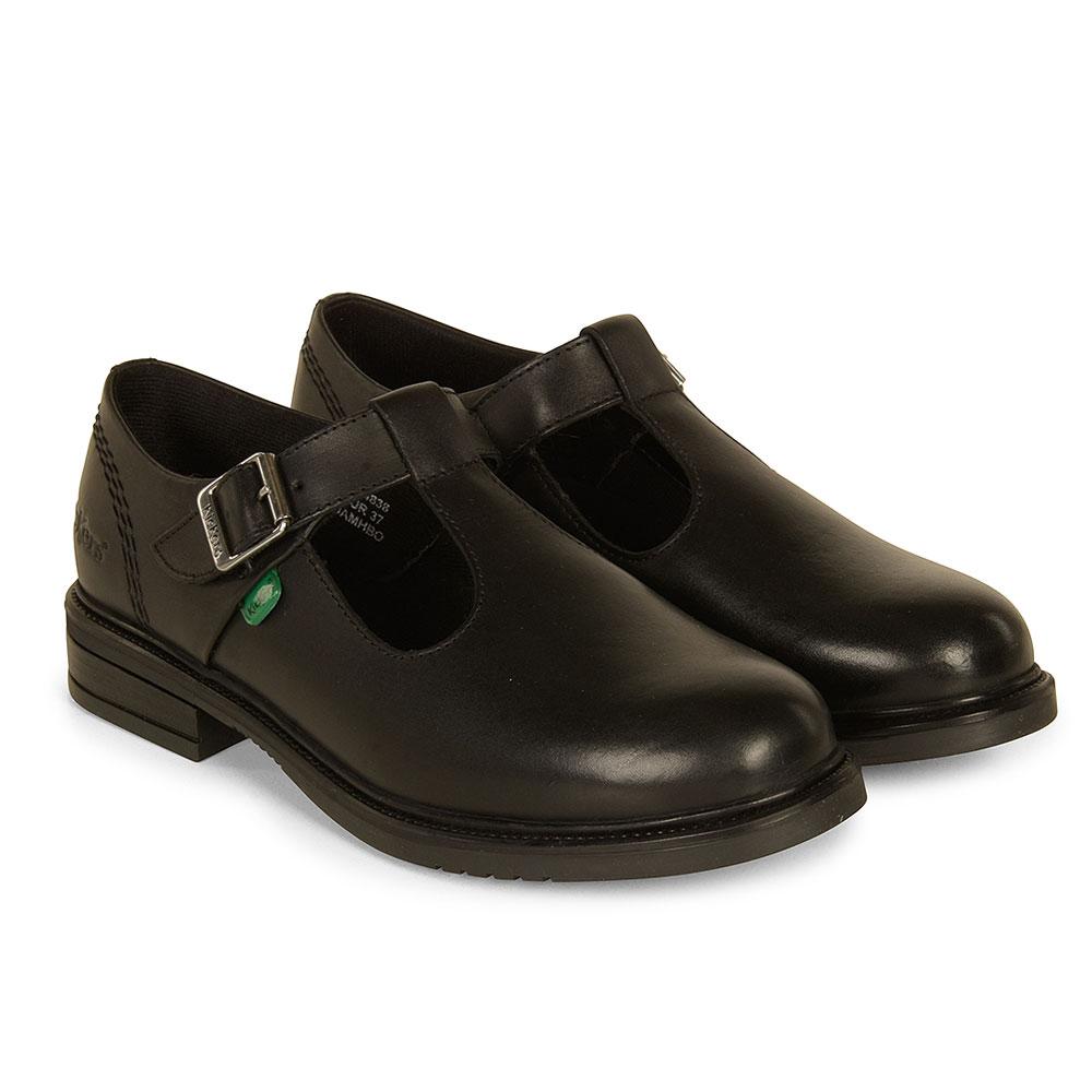 Lach T Bar School Shoe in Black