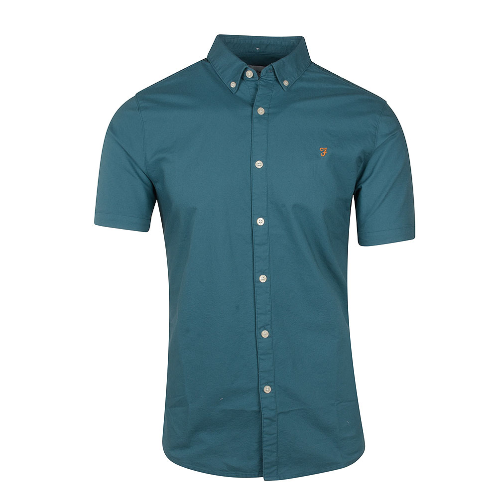 Brewer SS Shirt in Turquoise