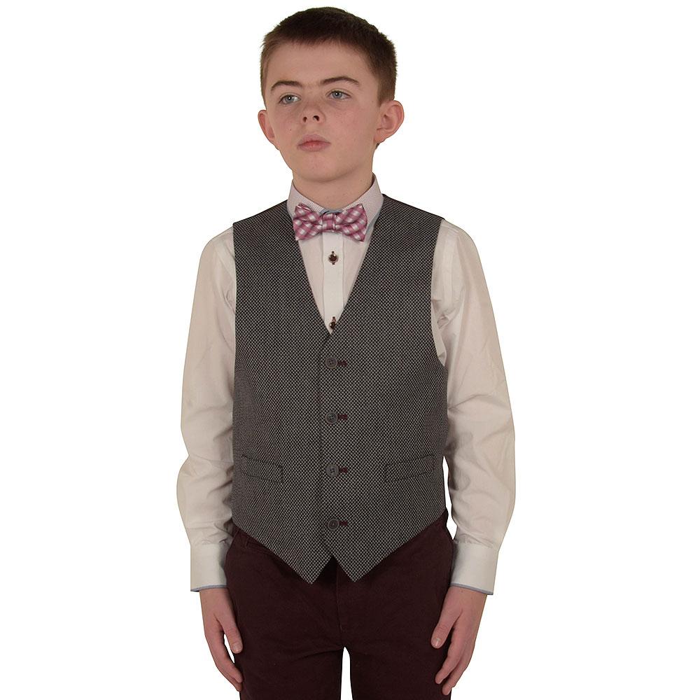 Boys Davis Waistcoat in Grey
