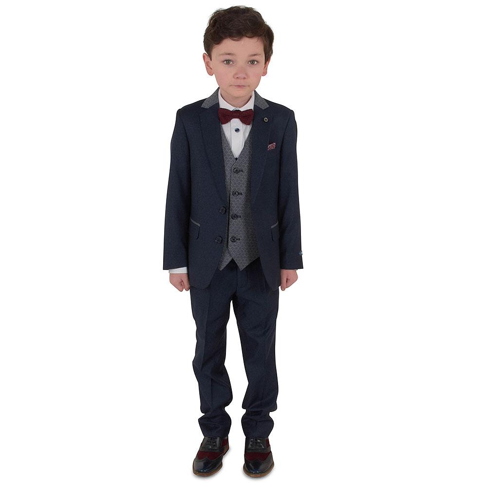 Boys Genaro Suit in Blue