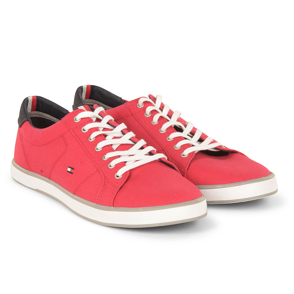 Iconic Long Lace Sneaker in Red