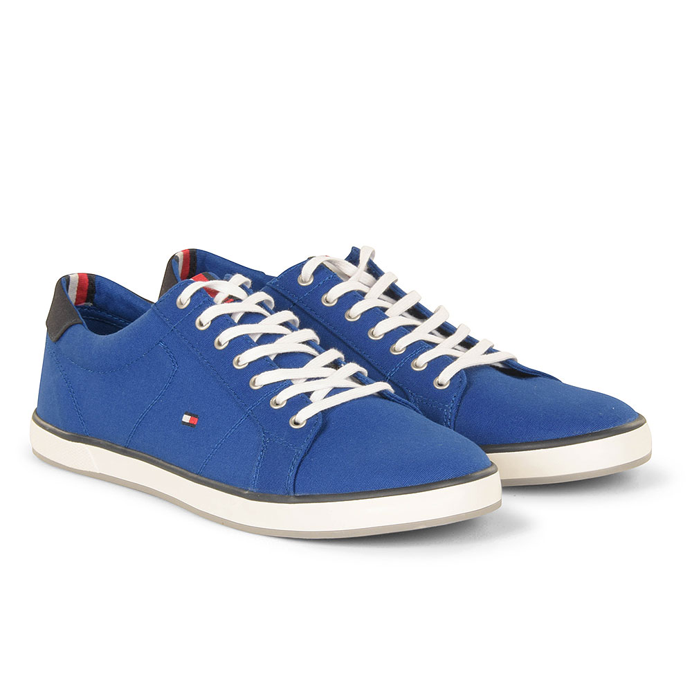 Iconic Long Lace Sneaker in Blue
