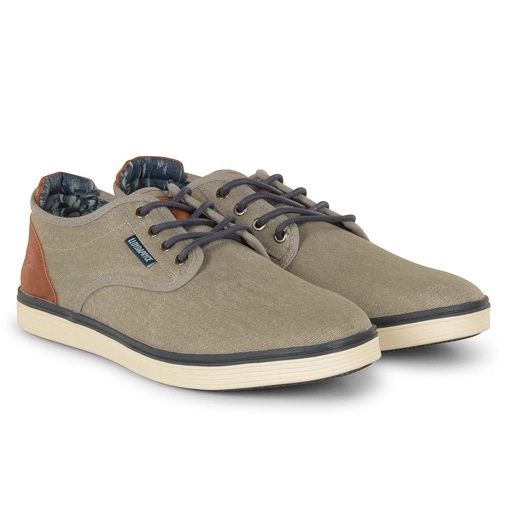 McKenna Canvas Shoe in Grey