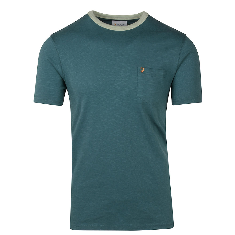 Groove SS Pocket T-Shirt in Dk Green