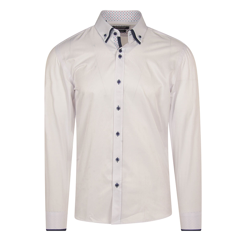Advise Tailored Double Collar Shirt in White