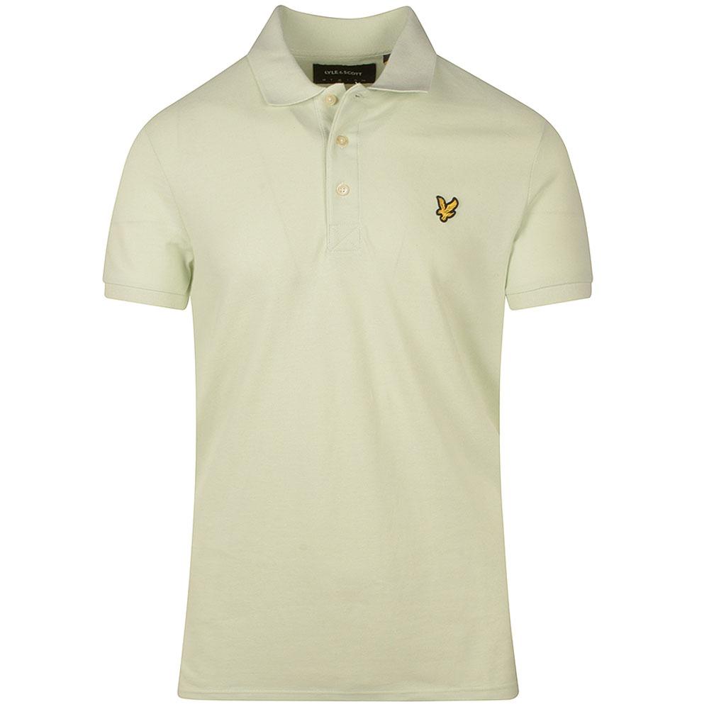 Plain Polo Shirt in Green